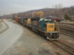 CSX SD40-2's 8839 and 8841 along with a GP40-2, and CDOT 125